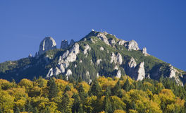 Mountain peak in autumn Royalty Free Stock Image