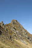 Mountain peak in autumn season Stock Photo