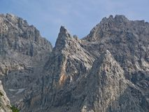 Mountain Peak in the Bavarian Alps. Near Zugspitze, Germany's highest Mountain royalty free stock images