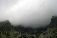 Mountain peak. Beautiful and dangerous mountain peak Royalty Free Stock Image