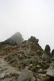 Mountain peak. Beautiful and dangerous mountain peak Stock Photo