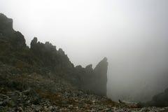 Mountain peak. Beautiful and dangerous mountain peak Stock Photos