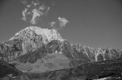 Mountain peak in black and white Stock Images
