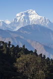 Mountain peak with blue sky in Nepal Stock Image
