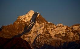 Mountain peak. Closeup of a mountain peak during sunset Royalty Free Stock Photo