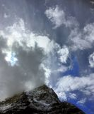 Mountain peak in the Canadian Rockies royalty free stock image