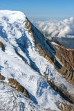 Mountain peak covered with snow Stock Images