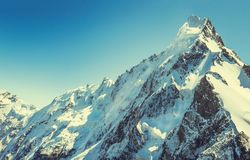Mountain peak Everest. Highest mountain in the world. National P. Ark, Nepal stock photos
