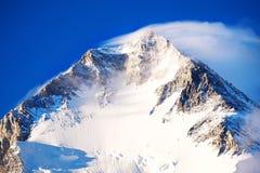 Mountain peak Everest. Highest mountain in the world. National P. Ark, Nepal stock photography