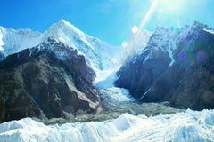 Mountain peak Everest. Highest mountain in the world. National P. Ark, Nepal stock images