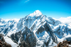 Mountain peak. Everest. National Park, Nepal. Stock Image