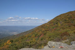 A mountain peak in fall colors Stock Image
