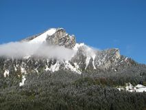 Mountain Peak And Forest Stock Images