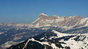 Mountain peak and forest Royalty Free Stock Photography