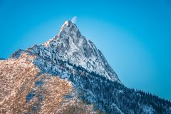 Mountain peak Giewont from Boczan winter, Tatra mountains, Polan Stock Images
