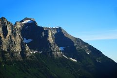 Mountain peak at Glacier National Park Stock Photography