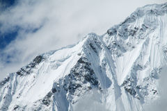 Mountain peak with glacier and snow in the Andes, Huascaran stock image