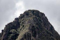 The Mountain Peak of Huayna Picchu. As viewed from Machu Picchu, Peru stock photos