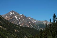 Mountain Peak in Jasper Provincial Park Stock Images