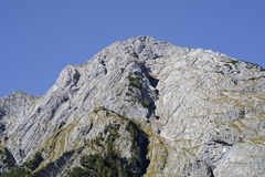 The mountain peak of Karwendel in Austria Royalty Free Stock Photography