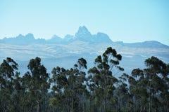 Mountain peak Kenya Royalty Free Stock Image