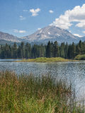 Mountain peak and lake Royalty Free Stock Photography