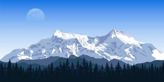 MOuntain peak landscape Stock Photography