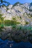Mountain peak mirroring in lake Obersee Royalty Free Stock Image