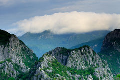Mountain peak in the morning with cloud Royalty Free Stock Photo