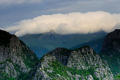 Mountain peak in the morning with cloud Stock Photos