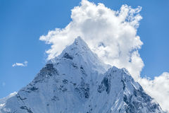 Mountain peak, Mount Ama Dablam Stock Photography