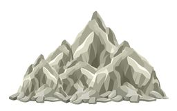 Mountain peak. On a white background Stock Images