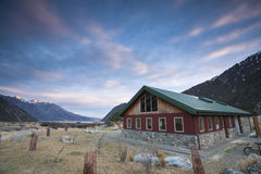 Mountain Peak MT. Cook share kitchen Stock Photography