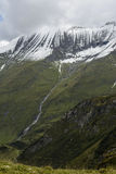 Mountain peak near the dam Mooserboden Royalty Free Stock Image