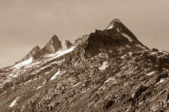 Mountain peak nearby Grimselpass in the Swiss mountains Stock Photography