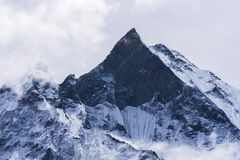 Mountain peak in Nepal Royalty Free Stock Images