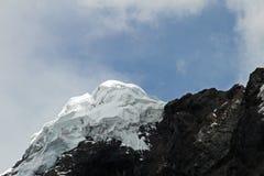 Mountain peak in the peruvian Cordillera Blanca Stock Photo