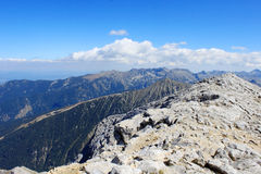 Mountain Peak. Picturesque view of mountain peaks high in the Pirin mountains, Bulgaria Royalty Free Stock Photography