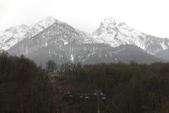 Mountain peak resort. Amazing nature landscape with mountain. Ro Royalty Free Stock Image