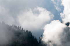 Mountain peak shrouded in clouds Royalty Free Stock Photography