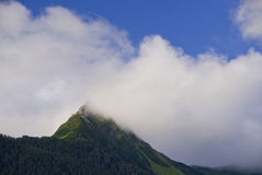 Mountain Peak in Sitka Alaska. The peak of a mountain off the coast of Sitka Alaska Stock Photography