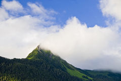 Mountain Peak in Sitka Alaska Stock Photos