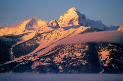 Mountain peak with snow Stock Image
