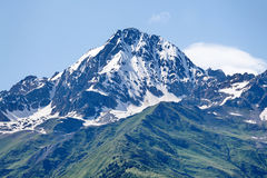 Mountain peak in snow Royalty Free Stock Images