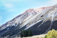 Mountain peak with snow Royalty Free Stock Images