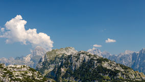 Mountain peak in a summer day Royalty Free Stock Images