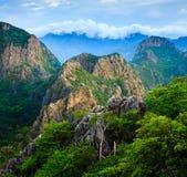 Mountain peak at sunrise,Thailand Royalty Free Stock Image