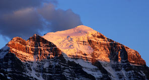 Mountain peak at sunset Royalty Free Stock Photography