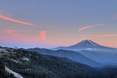 Mountain peak at sunset Stock Image