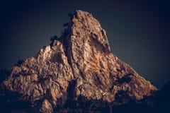 Mountain peak at sunset Royalty Free Stock Image